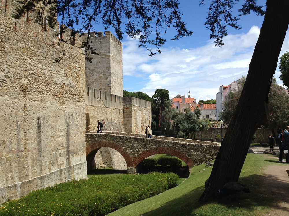 The entrance to the Castelo de Sao Jorge (St George's Castle)
