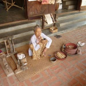 Village woman smoking a cheroot
