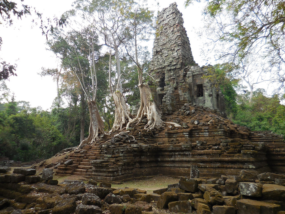 Preah Palilay is located about 400 meters north of Phimeanakas. It's relative seclusion means there are not a lot of visitors.