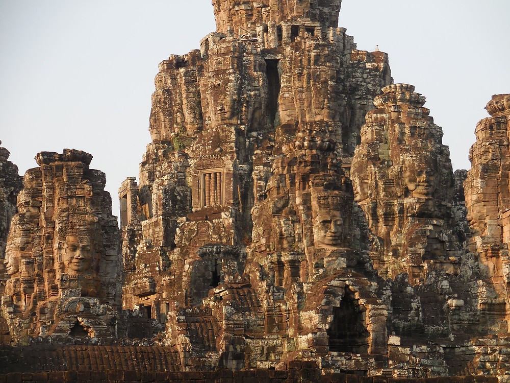 There are over 200 stone faces of Bayon - sometimes called the Mona Lisa of Southeast Asia