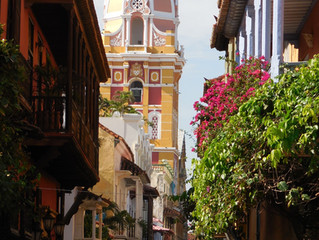 The historic Old Town of Cartagena