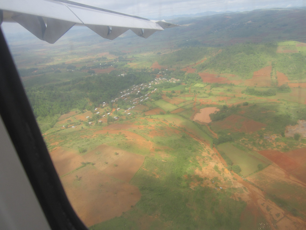 Flying into Heho Airport in the Inle Lake region