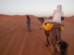 Trekking in the Sahara Desert