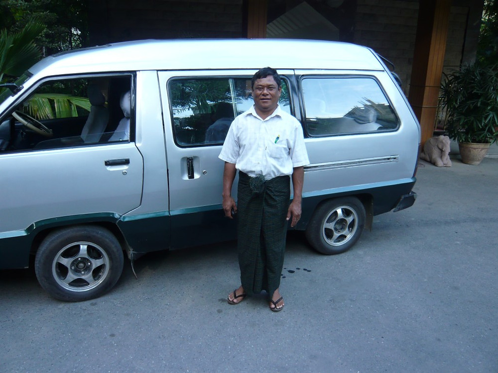 My driver Joh Wei wearing the traditional longyi