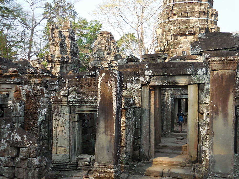 The low traffic of visitors and all the corridors makes Banteay Kdei a fascinating temple to walk through