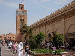 One of the mosques in Marrakech