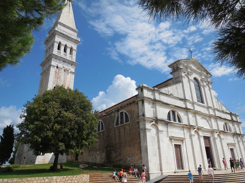 St. Euphemia's Basilica and tower are the focal point of the old town of Rovinj