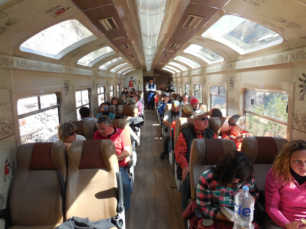 The panoramic windows on the Expedition train provide great visibility to the scenery especially in the narrow canyons