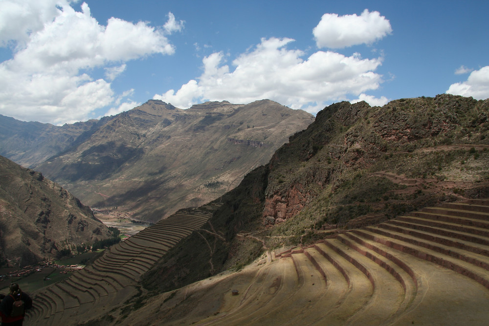 The terraced hillsides of Pisac
