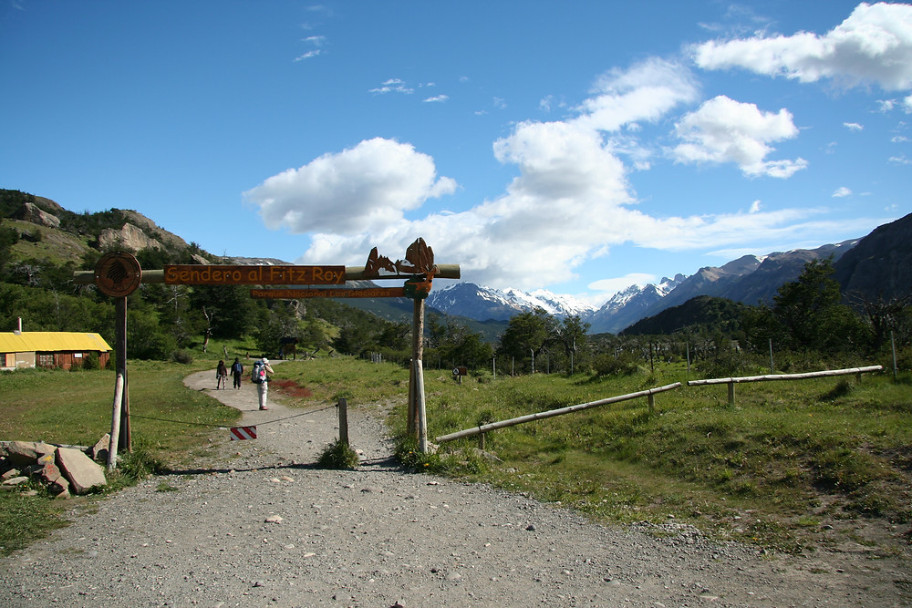 This is the start of the Fitz Roy trail which leads to Laguna de los Tres