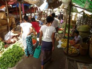 The market in Nyaung U