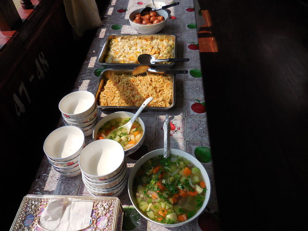 Each day we had a delicious Lao lunch on board the boat