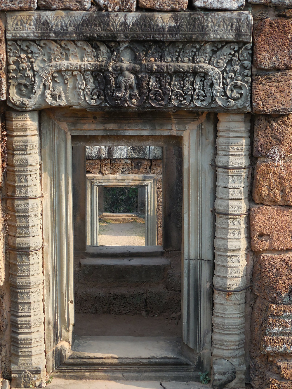 There are a number of doorways, with fascinating designs, at East Mebon