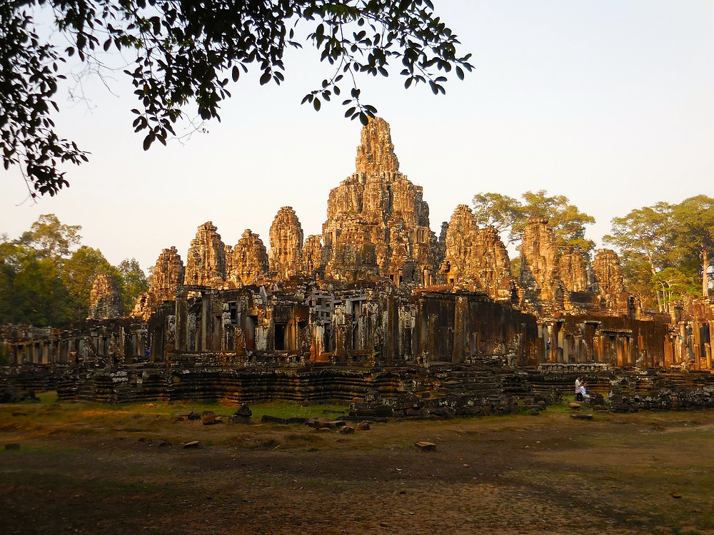 Bayon in the late afternoon as seen from the nearby road