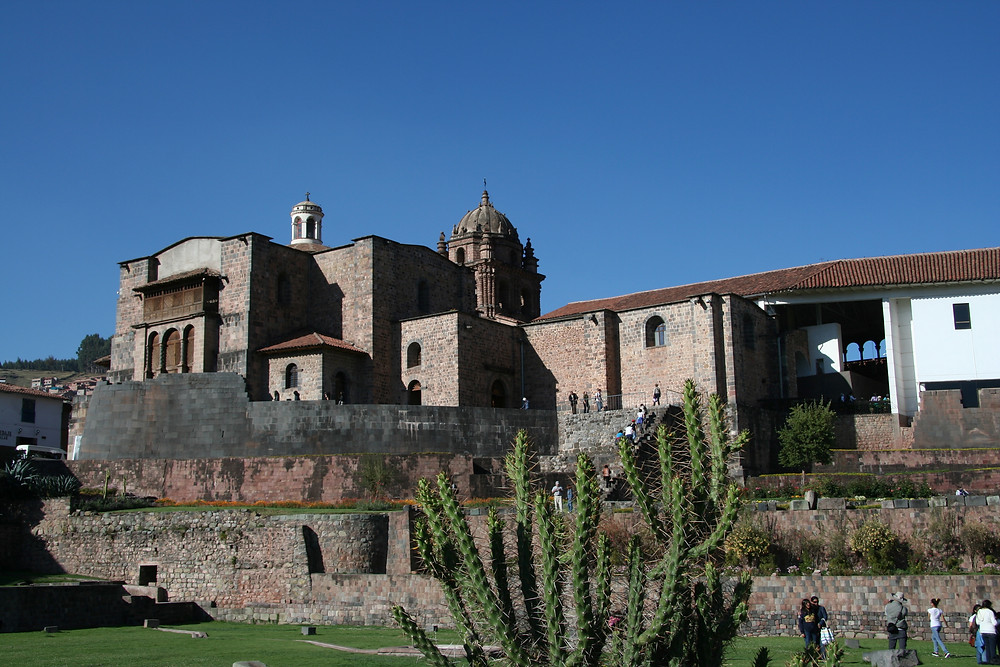 The Convent of Santo Domingo sits atop the Qurikancha