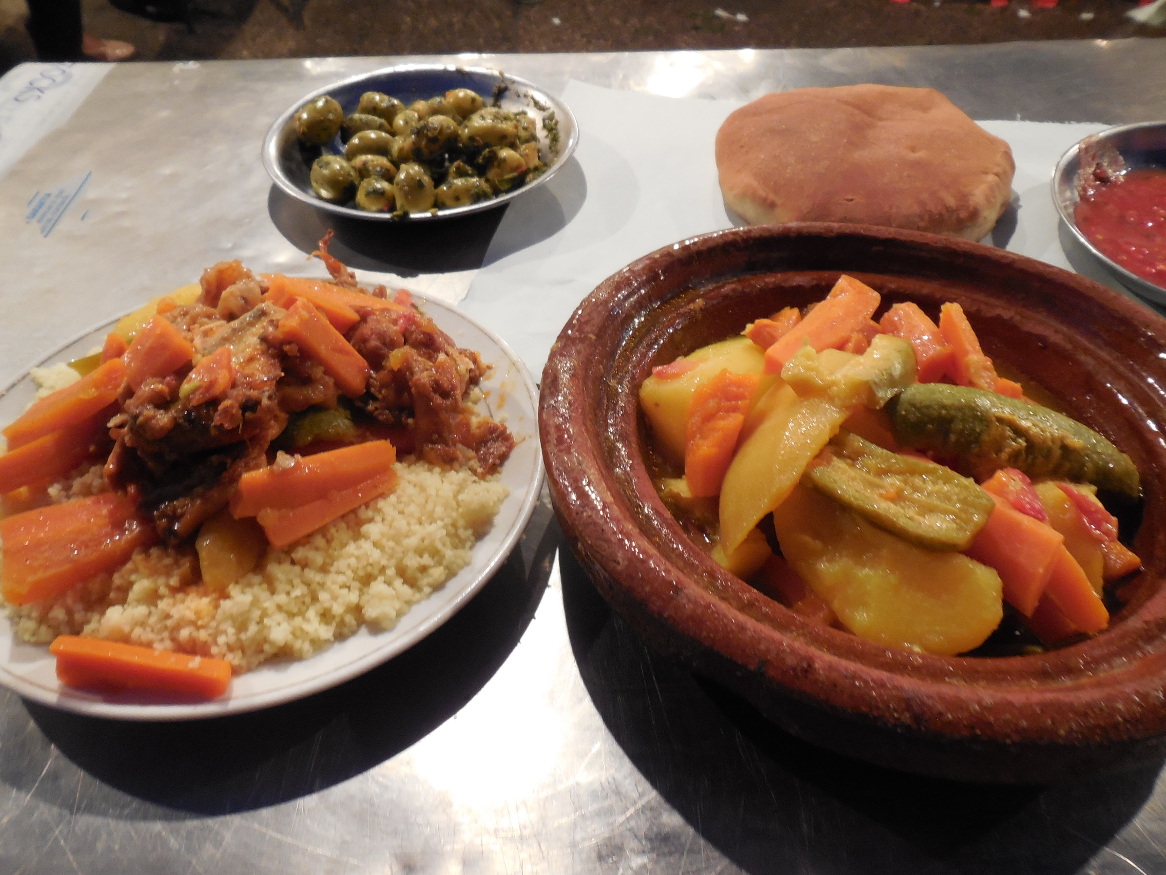 A Moroccan home-cooked meal