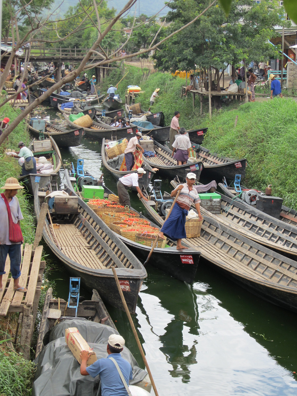 This small canal is used by locals to bring their products to market