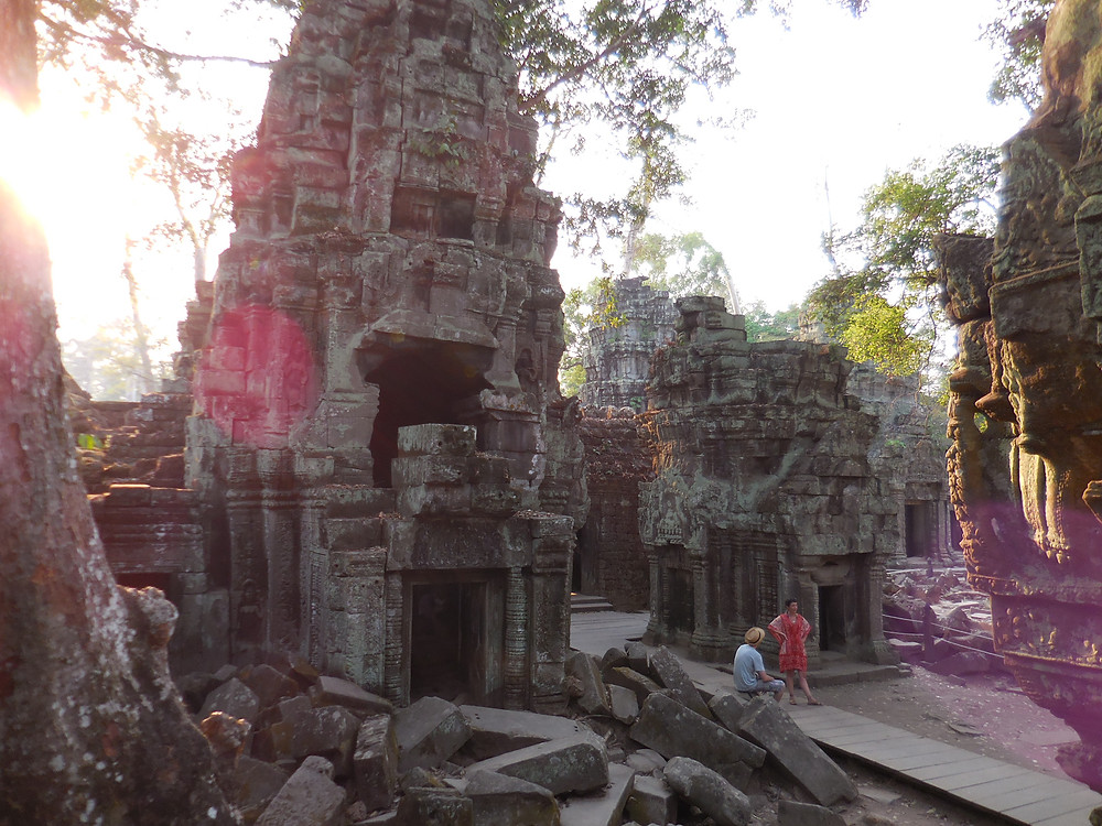 The crowds thin out late in the day making a walk through Ta Prohm a quiet and memorable experience