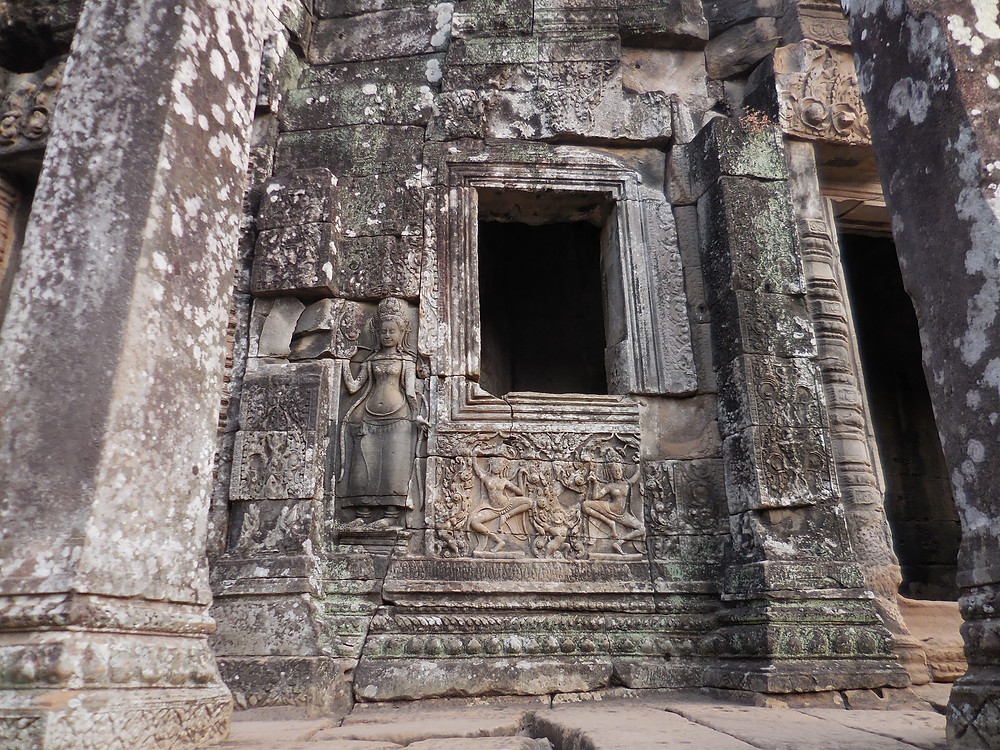 One of the many windows at Bayon. They provide great photo opportunities.