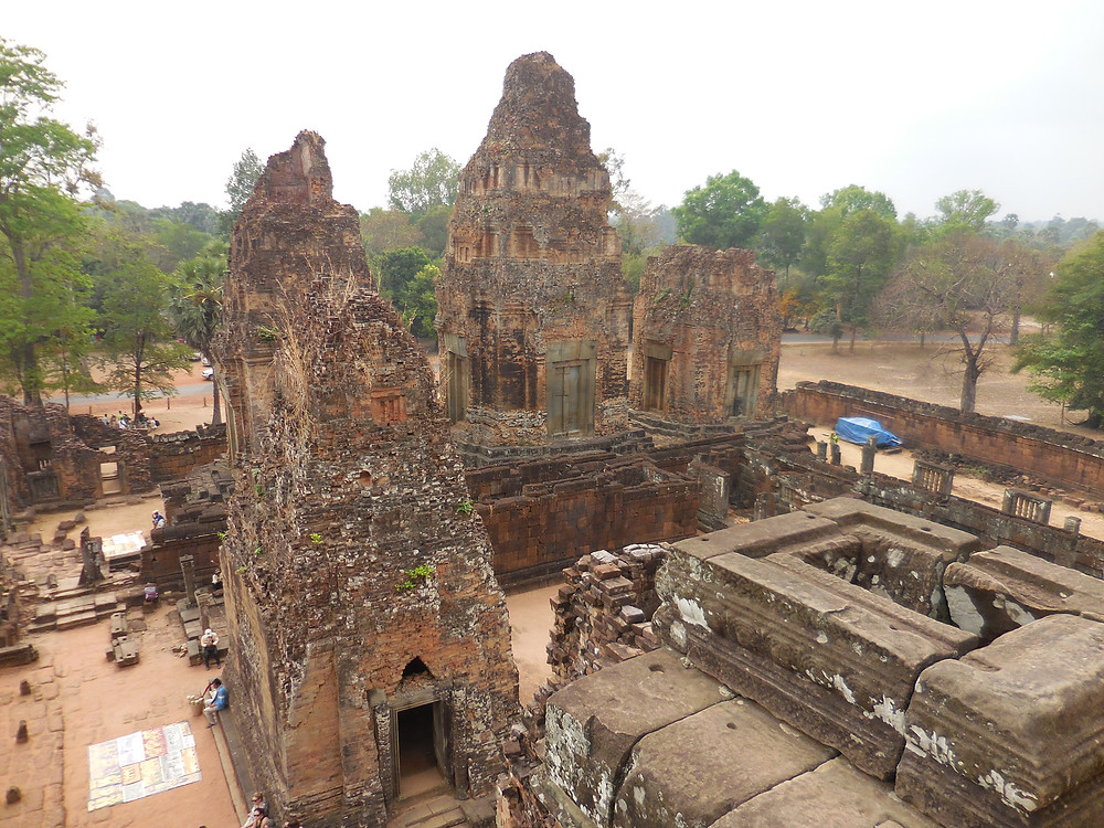 Pre Rup has a commanding view of the countryside from its top level