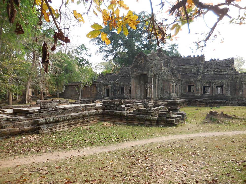 The entrance to Preah Khan is quiet and serene in the early morning
