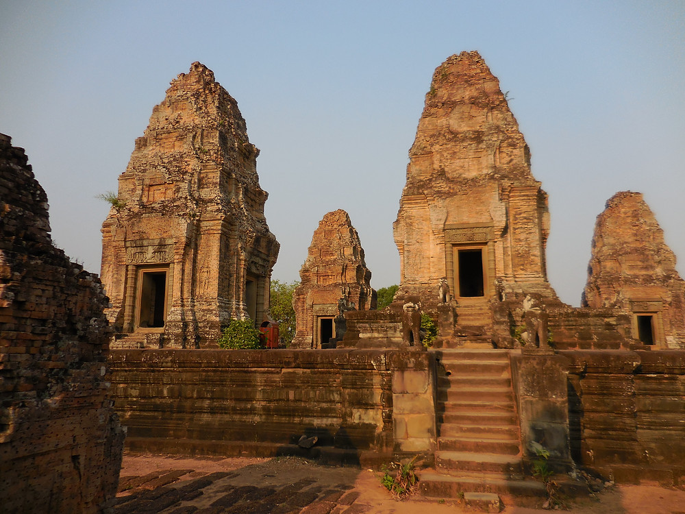 East Mebon temple is crowned by five towers