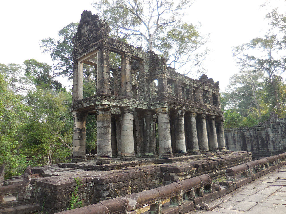 Much of Preah Khan is in ruins. This section shows what the interior looked like.