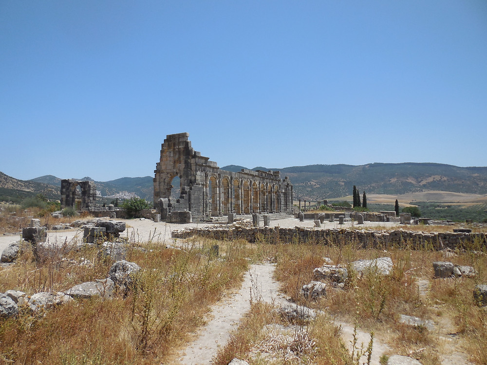 Exterior of the Basilica at Volubilis
