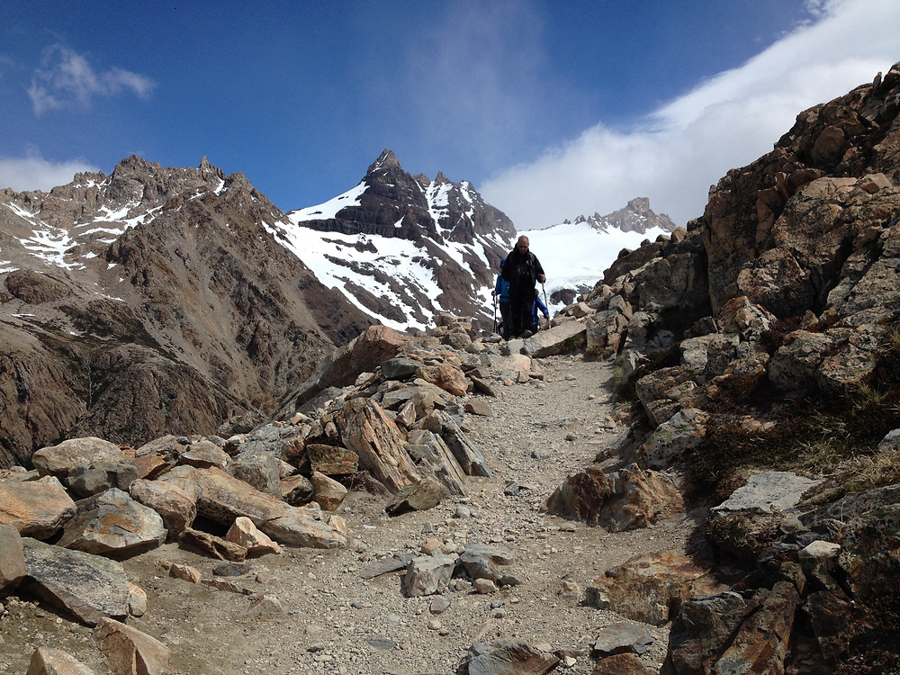 Nearing the top of the final mountain before Laguna de los Tres