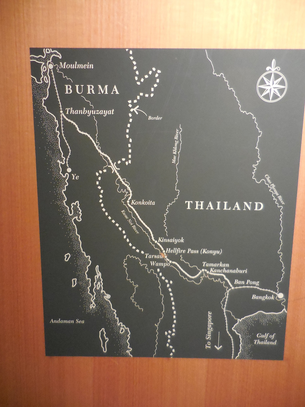 The railway crossed between Thailand and Burma (present day Myanmar)