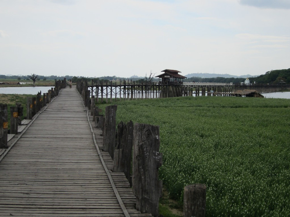 U Bein Bridge is the longest teakwood bridge in the world