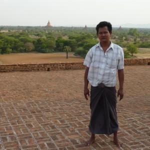 My driver Kyaw Kyaw on top of Dhammayazaka Zedi