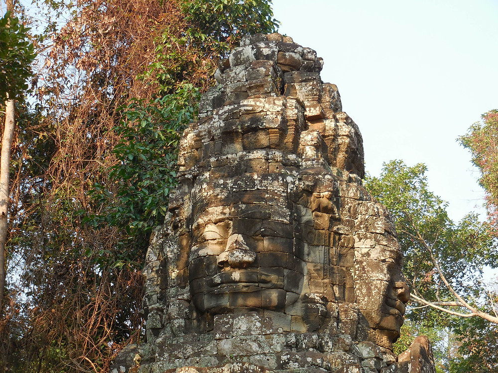 The gopura for Banteay Kdei has four large stone faces - each faces a cardinal point