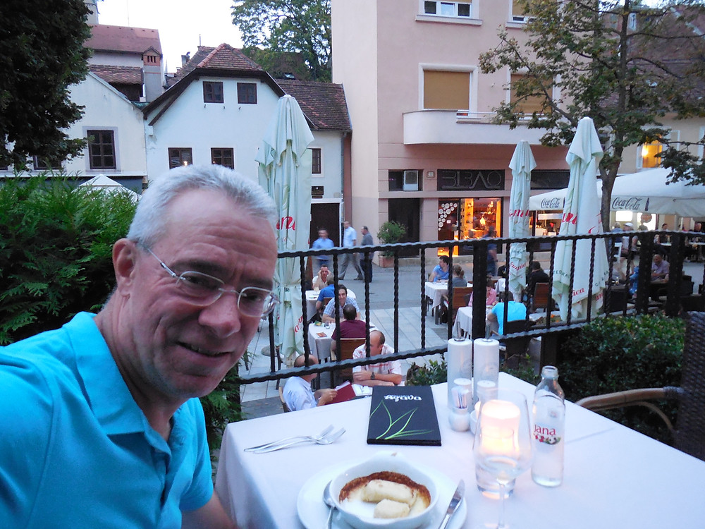 Enjoying the view at Agava Bistro in the old town