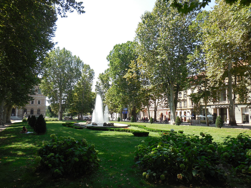 Zagreb has many green squares with beautiful trees, flowers and park benches for people to relax