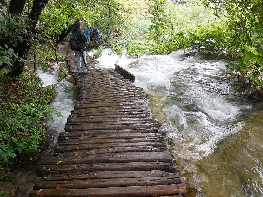 The wooden walkways allow you to get right down next to the cascading waters