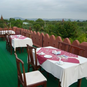 Dining on the roof of the Thiri Marlar
