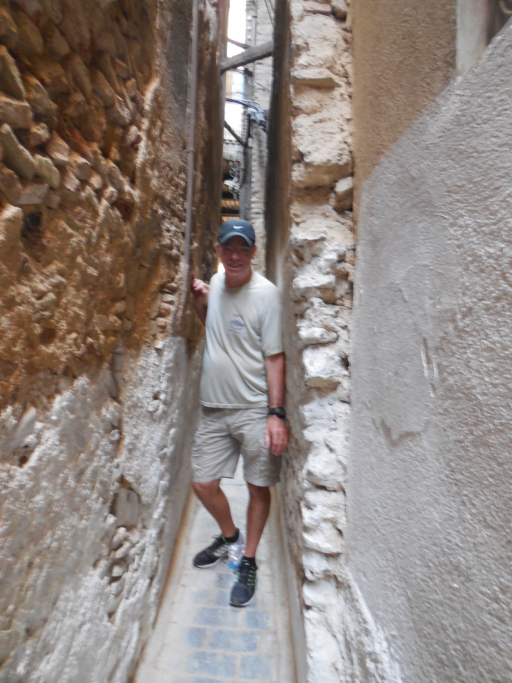 The narrow alleys in Fes' old medina