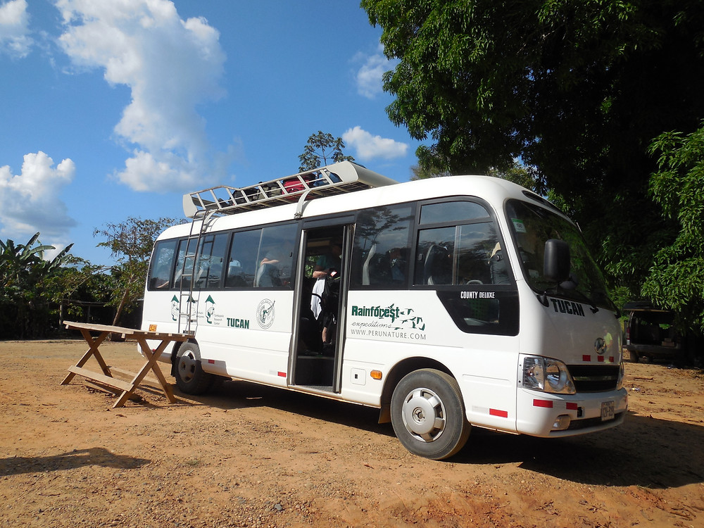 The Rainforest Expeditions bus which took us to the river from the airport