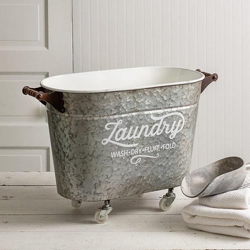 Rolling Oval Laundry Bin