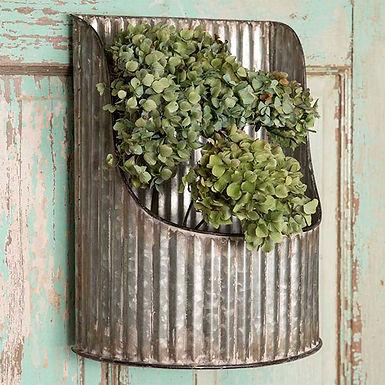 Corrugated Half-Round Wall Bin
