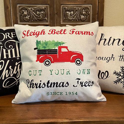 Christmas Truck Pillow