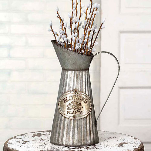 Tall Metal Water Pitcher