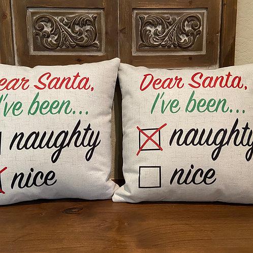 Naughty or Nice Naughty Pillow
