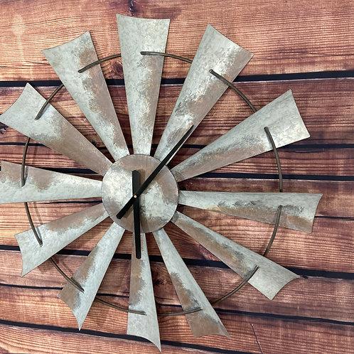 Large Windmill Wall Clock