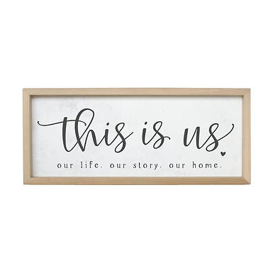 This Is Us Wall Sign