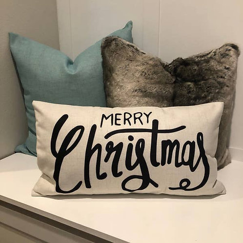 Merry Christmas Back Pillow