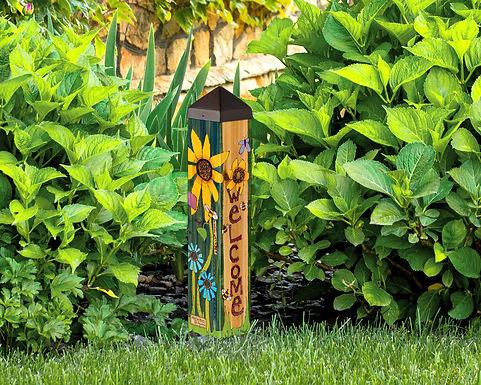 """Studio M - Peace Garden 20"""" Art Pole"""
