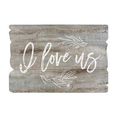 I Love Us Wall Sign