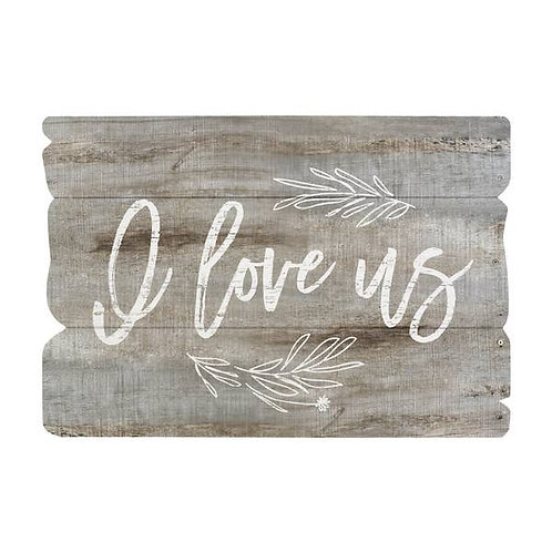 I Love Us Wall Sign